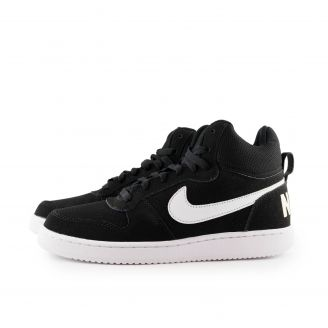Nike Court Borough Mid N838938-010 ΜΑΥΡΟ